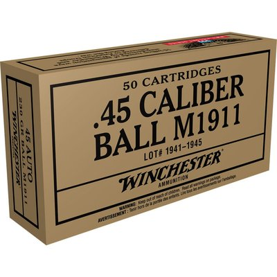 Case Of 5 Ammo 45auto Fmj 230g 50rd/bx